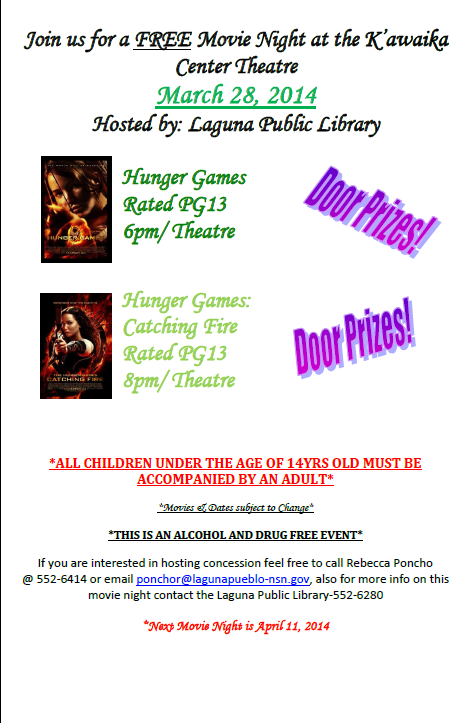 Movie Night Flyer 3 28 2014