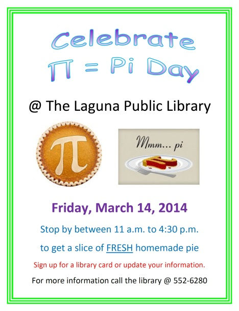 Pi Day Flyer 2014