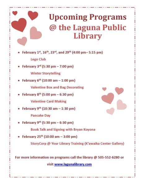 February 2016 Programs