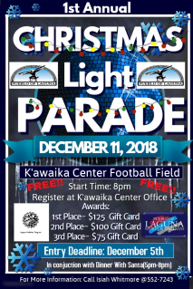 2018 1st Annual Christmas Light Parade