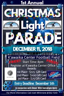 2018 1st Annual Christmas Light Parade